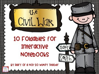 FREE Civil War Foldables for Interactive Notebooks
