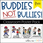 "FREE Classroom Poster Pack- ""We are Bully Free!"""