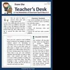 FREE Classroom Tips &amp; Ideas Newsletter - Issue 1
