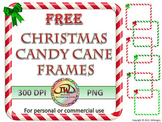 FREE Clip Art Christmas Candy Cane Frames - TPT Sellers -