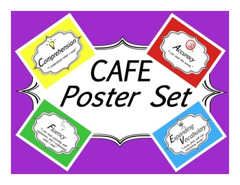 FREE Colorful CAFE Poster Set