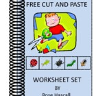 FREE Cut and Paste worksheet set.