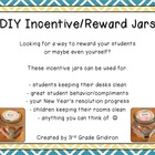 FREE DIY Incentive-Reward Jars (Craft Idea and Labels)