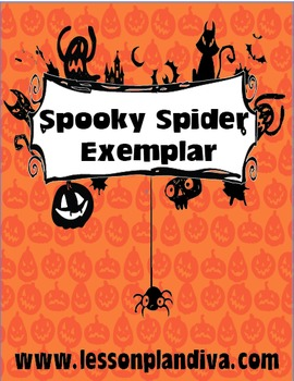 FREE Differentiated Spooky Spider Exemplar with Picture Ma