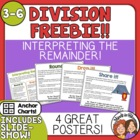 FREE Division: Interpreting the Remainder Handout and Posters