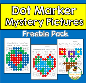 FREE Dot Marker Mystery Picture Activities