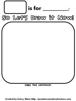 FREE Draw It Now Snowman Literacy Center-Easy to Prepare &