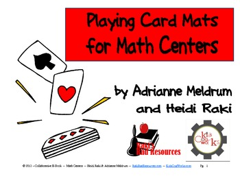 FREE E-Book: Playing Card Mats for Your Math Centers