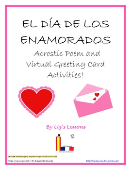 FREE: EL DIA DE LOS ENAMORADOS -Poem and  Virtual Greeting Cards!