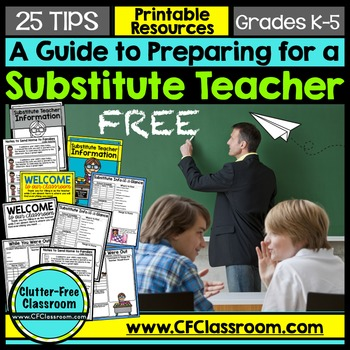 FREE EMERGENCY SUB PLANS SUPPLEMENT for ELEMENTARY TEACHERS