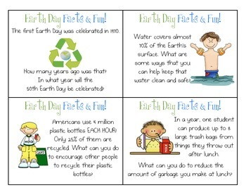 FREE Earth Day Facts & Fun Task Cards