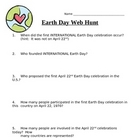 FREE Earth Day Web Hunt