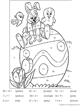 FREE Easter Color by Number