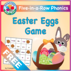 FREE Easter Egg Phonics Five-in-a-Row Game ~ Learn Long &