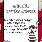 FREE Editable Binder Covers - Pirates