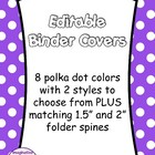 FREE Editable Binder Covers - Polka Dots