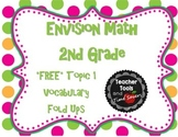 FREE EnVision Math 2nd Grade Vocabulary Fold ups for Topic 1
