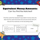 FREE Equivalent Money Amount Matchup (Countdown to Christm