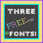 FREE FONT Three Pack - Chalkboard, Handwritten