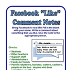 FREE Facebook &quot;Like&quot; Comment Notes - Fun for Everyone!