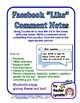 "FREE Facebook ""Like"" Comment Notes - Fun for Everyone!"