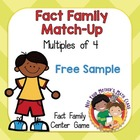 FREE Fact Family Match Up: Multiples of 4