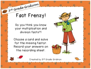 FREE Fact Frenzy Center! (Common Core Aligned)