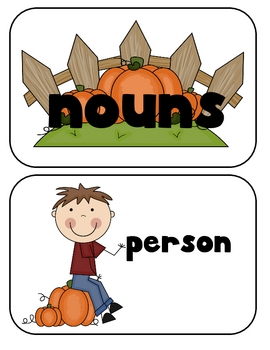 FREE! Fall Noun Sort
