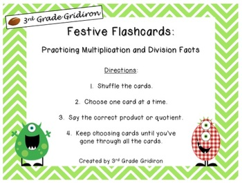 FREE Festive Flashcards (Multiplication-Division)
