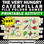 FREE File Folder Game Hungry Caterpillar