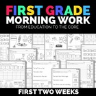 FREE First Grade Morning Work Sampler