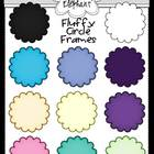 FREE Fluffy Circle Frames Clip Art