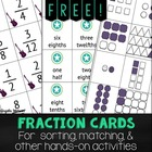 FREE Fraction Cards for sorting, matching, & other hands-o