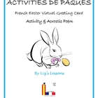 FREE French Easter Virtual Greeting Cards and Acrostic Poem!