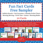 FREE Fun Fact Card Pack - 20 Sample Cards for Unit Extensi