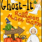 FREE Ghost-It! A Math Game For October And Halloween