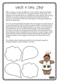 FREE Gingerbread Man Creative Writing Activities