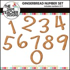 FREE Gingerbread Themed Numbers 0-9