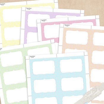 FREE Gingham Name Tags