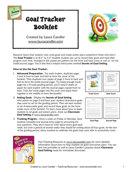 FREE Goal Tracking Booklet