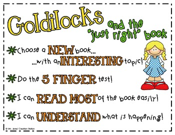 "FREE Goldilocks and the ""Just Right"" Book Anchor Chart"