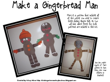 FREE Goofy Gingerbread Man Pattern