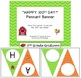 "FREE ""HAPPY 100th DAY!"" Chevron Pennant Banner - Barnyard"