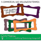 FREE Halloween Commercial Use Striped Buckle Frames