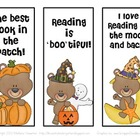 FREE Halloween Teddy Bear Bookmarks for Fall