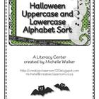 FREE Halloween Uppercase and Lowercase Alphabet Sort