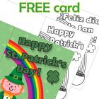 FREE  Happy St. Patrick&#039;s day coloring card English and Spanish