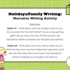 FREE Holidays-Family Writing Activity (Countdown to Christ