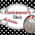 FREE Homework Club Incentive Pack: Black, White, & Red Polka Dots