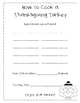 FREE-How to Cook a Thanksgiving Turkey Writing